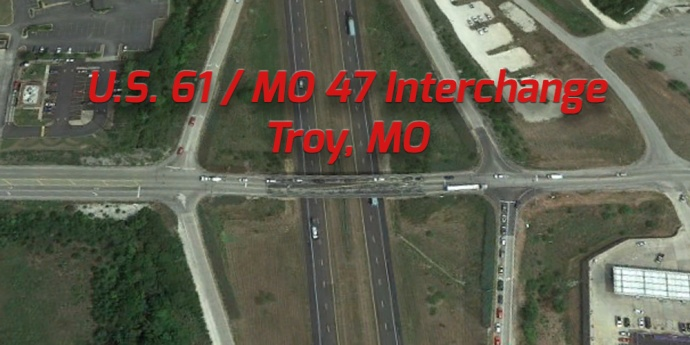 US 61/MO 47 existing interchange at Troy