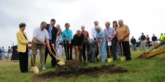 a groundbreaking ceremony