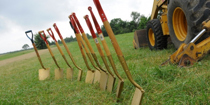 shovels at a groundbreaking ceremony