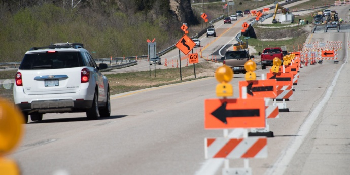 A Missouri work zone