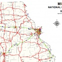National Highway System Map of Missouri