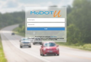 MoDOT U log in Page
