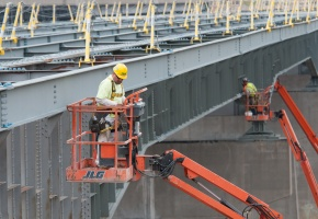 Bridge Workers in Work Zone