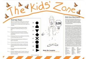 work zone activity placemat