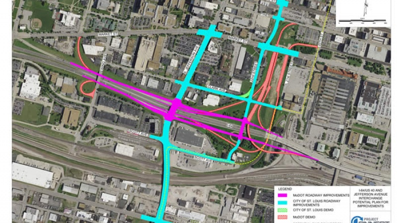 Conceptual Plan for Jefferson at I-64 in St. Louis City