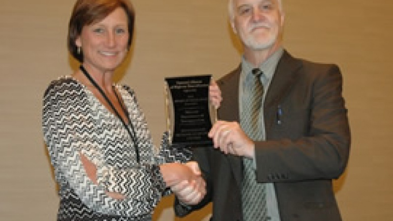 NAHBA award being given at conference