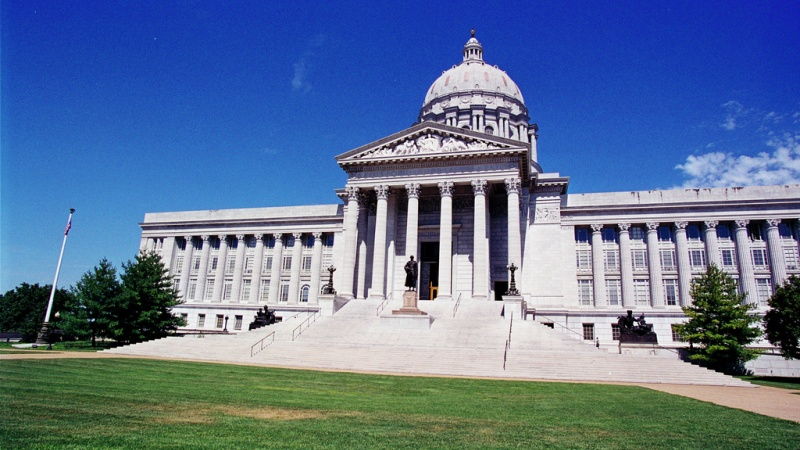 Front of Jefferson City Capitol Building
