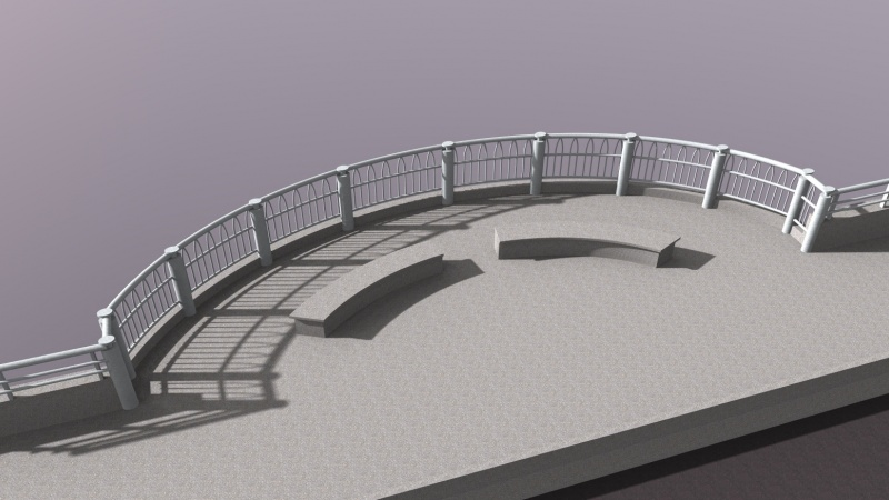 Rendering of bridge railing