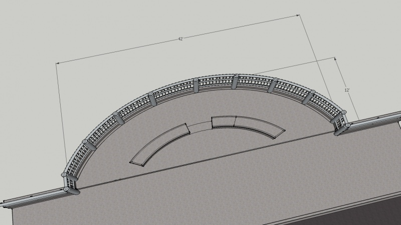 Another rendering of bridge railing