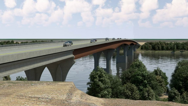 Rendering of bridge during the day