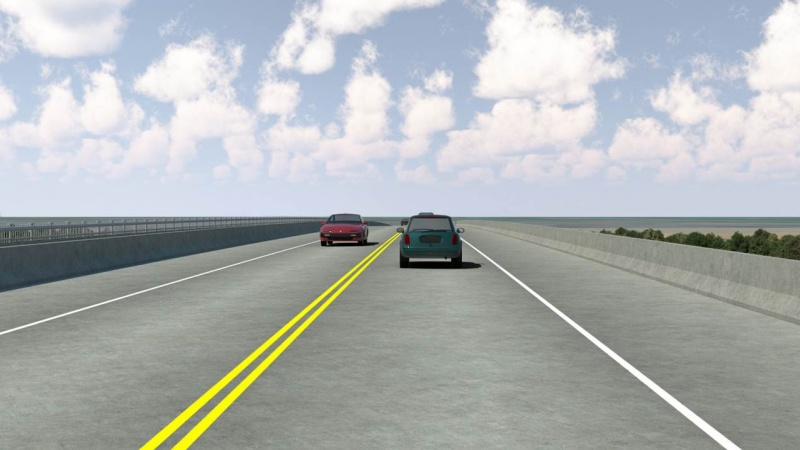 Rendering of the bridge roadway