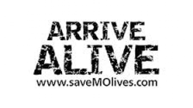 """Arrive Alive"" graphic"