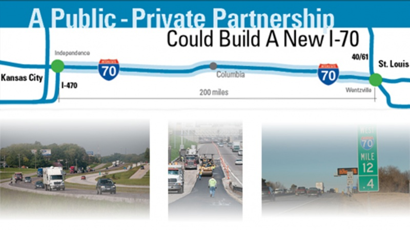Map and plans for public-private I-70 project