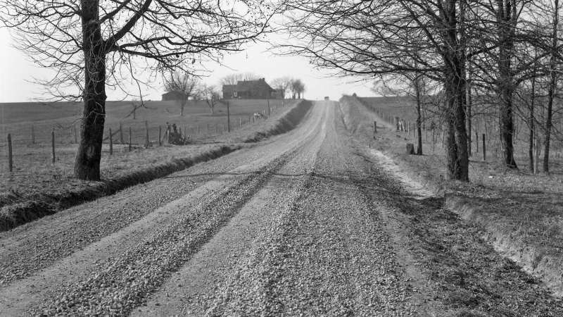 Old photo of dirt road