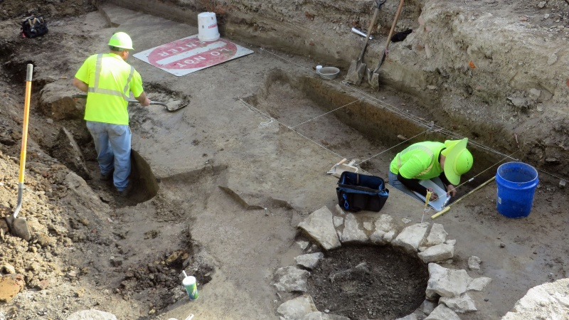 Archaeological excavations under the Poplar Strreet Bridge in St. Louis