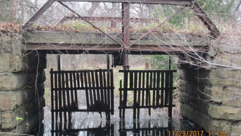 This is a picture of the histroic pony truss bridge