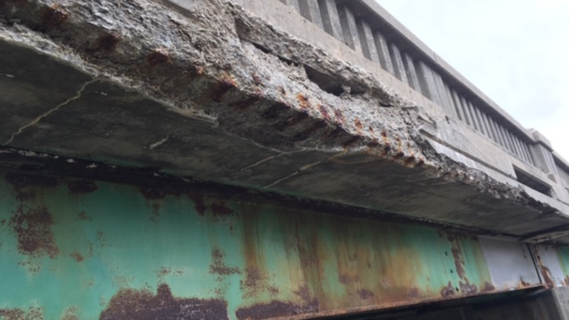 Deterioration of Agee Creek Bridge