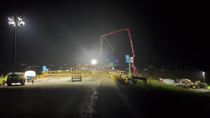 County Route C (Pattonsburg) Bridge Deck Pour Sept. 26, 2019
