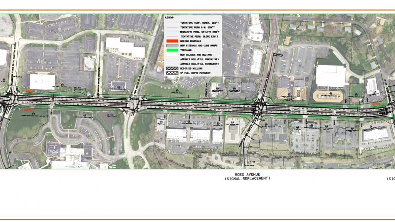 Route 340 project map: Timber Run Drive to Tempo Drive