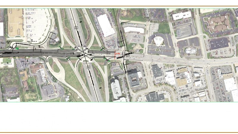 Route 340 project map: Woodcrest Executive Drive to I-270