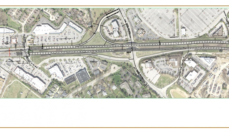Route 340 project map: Lea Oak to west of Chesterfield Airport