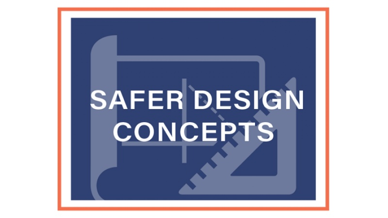 Safer Design Concepts block graphic