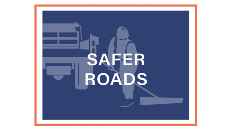 Safer Roads block graphic