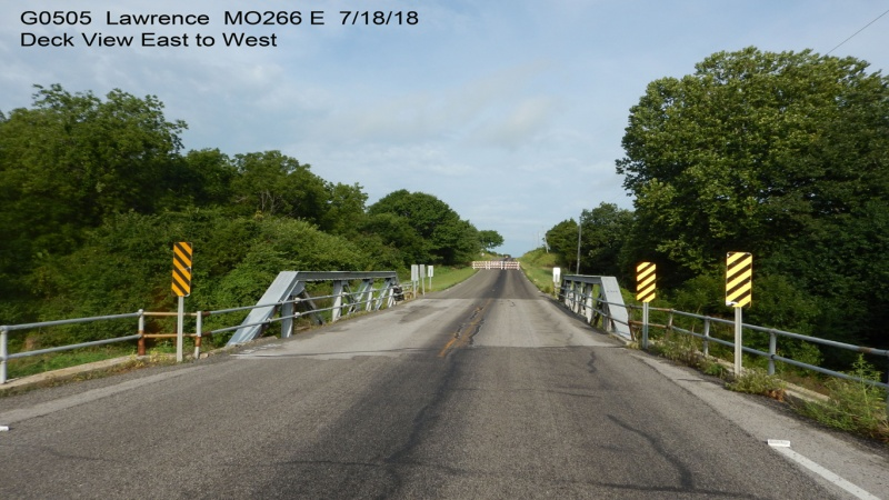 Billies Creek Bridge deck from east
