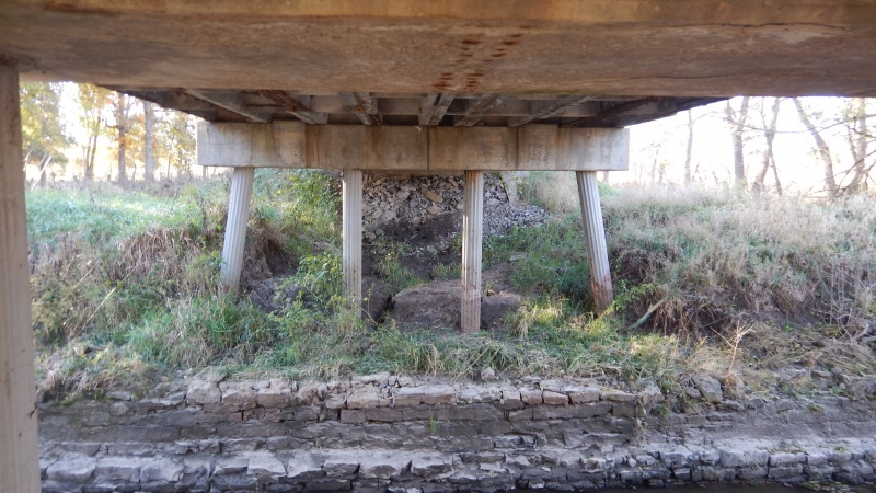 Underneath the Harrison County Route EE Panther Creek Bridge