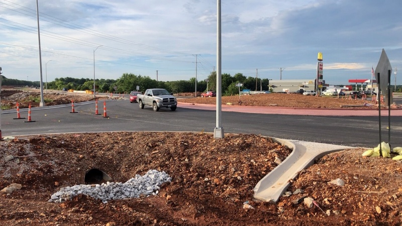 Hunt Road Roundabout Open July 2020