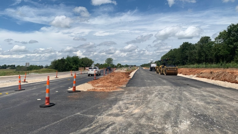 New highway lanes under construction