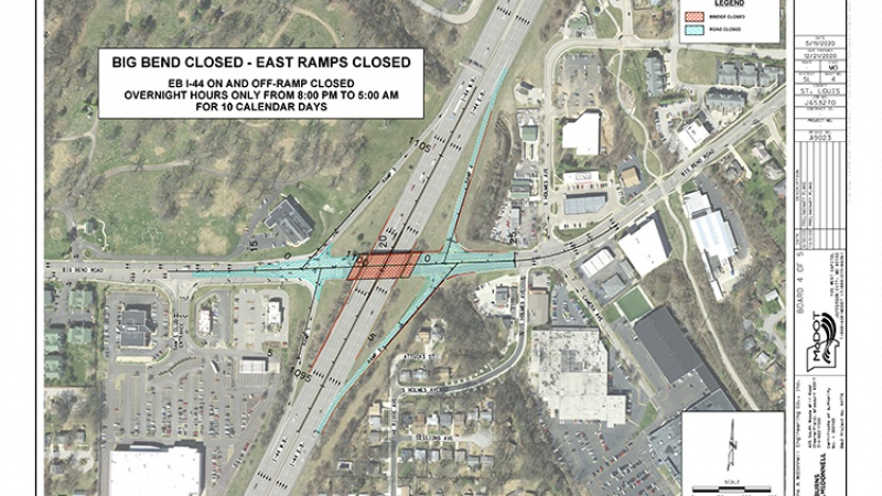 Big Bent East bound ramp closures
