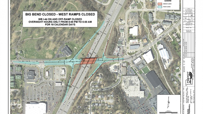 Big Bend west ramp closures