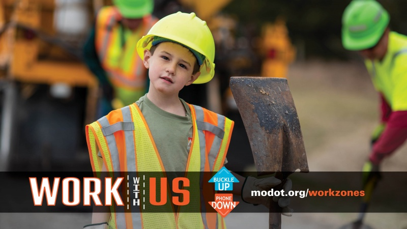 work with us: work zone awareness poster