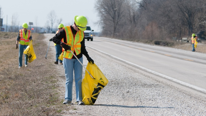 Adopters cleaning highway