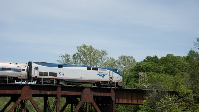 an amtrak train