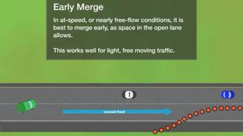 a diagram of an early merge