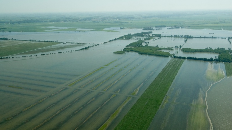 a flooded plain